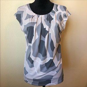 Ann Taylor Short Sleeve Petal Dress Blouse